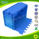 Escuro - recipiente azul da UE com tampas do ziguezague