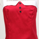 2017 vestiti Backless sexy rossi dal partito di sera dell'ultimo dell'annata Halter di disegno