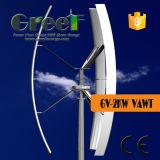 Sistema de Eje Vertical techo de la turbina de 2 kW con Ce