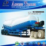 En forma de V Tri-Axle Bulker de cemento, cemento a granel semi remolque cisterna