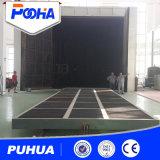 Снимок Puhua Постепенное расплющивание стенд для крупных деталей очистка /песок дробеструйная очистка машины