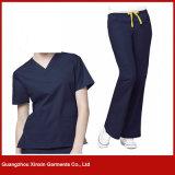 Платье нюни способа равномерное медицинское Scrubs Длинн-Втулка форм стационара короткая (H21)