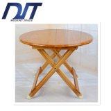 Mesa redonda de bambu ocasional retangular portátil simples ao ar livre