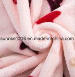 Couverture de corail estampée molle superbe d'ouatine estampée par Sr-B170213-19 de couverture de flanelle