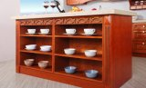 Module de cuisine blanc en bois solide de type de couleur (zq-009)