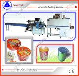컵 모양 우유 차 또는 즉석 면 수축 포장기