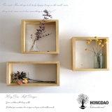 Rectángulo de madera de encargo de las gafas de sol de Hongdao, visualización de madera Box_D
