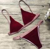 Oberseite 2017, die Dame-Samt-reizvollen Bikini verkauft