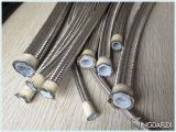 Tubo flessibile di Teflon Braided flessibile del filo di acciaio di SAE100 R14 PTFE