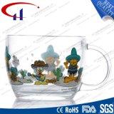 480ml Decaled Cristal Flor de taza de té (CHM8114)