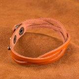 Großhandelsaußenhandel-Verkauf Vitage gebildet von Rindleder-Bronze überzogenen Armband-einfacher Entwurfs-Schmucksachen