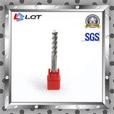 Moinhos de extremidade do carboneto de tungstênio HRC55 para o alumínio e o cobre