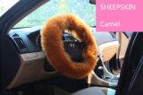 Luxuriöser Plüsch-Pelz-langer Wolle-Schaffell-Lenkdeckel