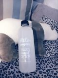 Recipiente de vidro vazio, garrafa de água de vidro, frasco de vidro bebendo