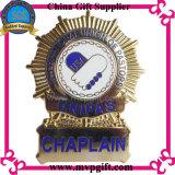 La policía del metal Badge con la insignia 3D