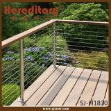 外面316のステンレス鋼のバルコニー鋼鉄ケーブルの柵デザイン(SJ-H1830)