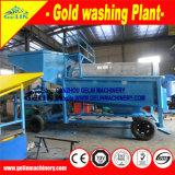 Maquinaria de lavagem de ouro aluvial, lavadora de minério de ouro