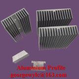 OIN 9001 saupoudrent les profils en aluminium d'extrusion en aluminium de profil d'enduit pour le guichet et la porte
