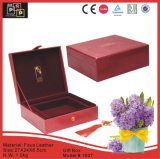 Rectángulo de regalo rápido hecho a mano material del cuero rojo del Faux (1007R2)