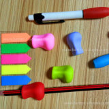Custom Eco-Friendly Anti-Skid caneta de borracha de silicone luva com o lado macio sentir