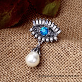 Form-Legierung mustert Art-Perle hängende Brotheroch Frauen-Brosche-Schmucksachen