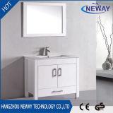 Vanité debout de salle de bains d'étage de modèle simple avec le miroir