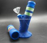 Tubo de agua de silicona de la altura de 13.6 '' nuevo con el tallo de silicona abajo y el tazón de fuente de cristal