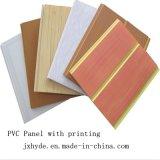 Matériau de construction d'impression normale Panneau de décoration murale en PVC 7 * 200mm / rainure moyenne