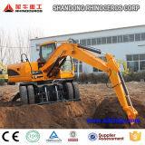 Excavatrice sur roues grandes X120-L 12ton 0.45 avec Ce ISO