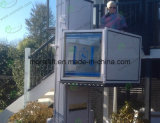 90-Grad-Ausgang und Eingang arbeitsunfähiger Rollstuhlaufzug für Treppe