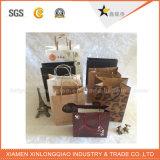 Qualitäts-schwarzer Luxuxgriff-Papierbeutel für Verpackung