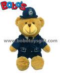 La police faite sur commande de peluche de note de la CE équipe l'ours de nounours