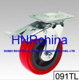 Roter Belüftung-Rad-Schwenker mit doppelter Verschluss-Fußrolle