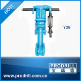 Y6 Y20 Y24 Y26 Pneumatic à mão Rock Drill Machine para Quarry e Mine