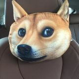 Cuscino di vendita caldo all'ingrosso del collo della sede di corsa del collo della testa del cuscino dell'automobile di figura degli animali 3D