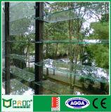 Obturador de la ventilación del vidrio Tempered del aluminio 5m m Sinlge