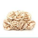 Sacco di seta del fiore dei sacchi di frizione dei sacchi di sera della borsa del partito delle signore di alta qualità
