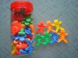 Connecteur en plastique de bâtiment de bloc constitutif