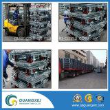 Folable Caixa de malha metálica deformável do compartimento de armazenamento com Truckle