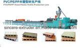 PVC|PE|Ligne en plastique en bois de machine d'extrusion de profil de WPC