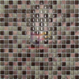 Graue Glasmischungs-Aluminiummosaik-Fliese (CFA71)