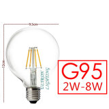 Iluminación de interior grande de la bombilla LED E27 del LED Edison G95