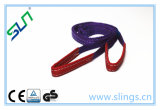 2018 1t*1mの目のタイプ100%年のポリエステルウェビングの吊り鎖のセリウムGS