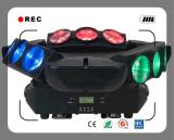 9X10W RGBW 4en1 Araña LED moviendo la cabeza del Club haz de iluminación de escenarios