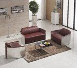 ホテルの家具のためのAliminumのレトロの革ソファー