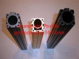 Profil en aluminium de construction de profil en aluminium en aluminium de matériau pour l'industrie de porte de guichet avec l'enduit Surfacement de poudre