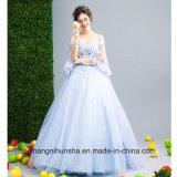 Schatz-trägerlose Blumen, die Hochzeitsfest-Ballkleid-Abend-Kleid bördeln