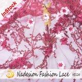 Comercio al por mayor de tejido de encaje Transparente 3D para las mujeres visten