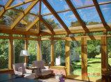 L'est fabriqué en Chine standard de profilé en aluminium petite véranda en verre d'hiver, chaud et beau jardin Chambre