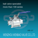 Edelstahl (304, 316) Sanitary Ball Valve mit Manual Handle für Water